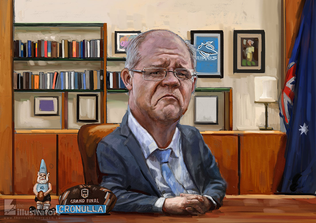 Scott Morrison caricature